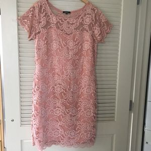 Ambiance stretch lace pink dress, super soft